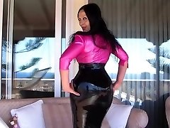 Stellar Huge-titted Latex Diva on the Terrace - Blowjob Handjob with long pink nails - Cum on my Tits