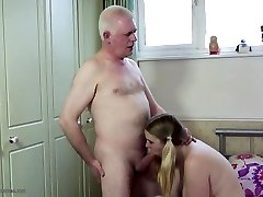 Old daddy fucks young daughter