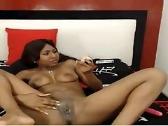 Marvelous Latina Teenager with Big Dildo & a Surprise!!