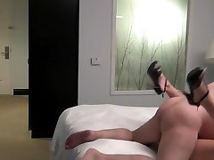 Fat ugly old man fuck a youthful beauty escort in a hotel room