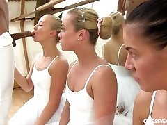 Cayla Lyons, Evelyn Dellai, Vinna Reed Pleasing the ballet lecturer