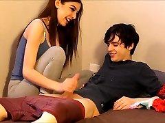 teen caught her roomie nuzzling her panties