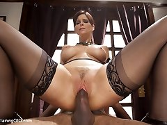 Domestic Anal Cougar Training Syren de Mer, Day One - TheTrainingofO