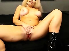 Brit flexible MILF with sexy accent and big globes