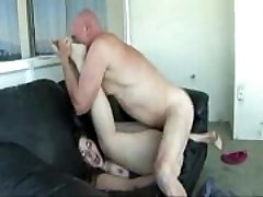 Big Ass Honey Pounded On Couch by Old Man