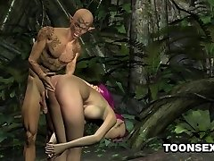 Stellar 3D punk elf honey getting fucked hard outdoors