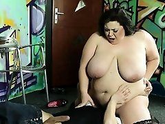 A restaraunt waiter gets punished by hot BBW dame