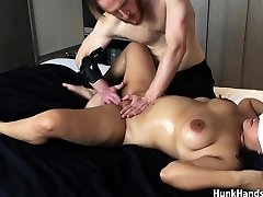 20 yo asian amateur gf erdrosselt, spritzt big-ass-echte massage !