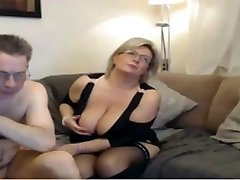 Mature mom have a webcam sex with gigantic ideal tits