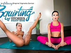 Adriana Chechik & Megan Regn i Squirting Historier: Del En - GirlsWay