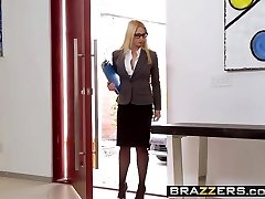 Big Breasts at Work -  Her First Humungous Sale scene starring Sarah