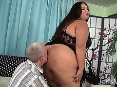 Gordura latina BBW Lorelai Givemore Grande Carga de Sexo
