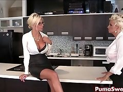 Puma Swede & Bobbi are the Girl-girl Office Slut!