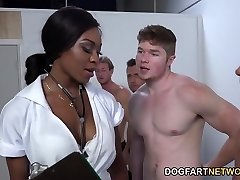 Nurse Nadia Jay Checks White Dicks
