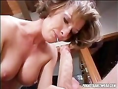 Saskia Sucks A Rock-hard Cock