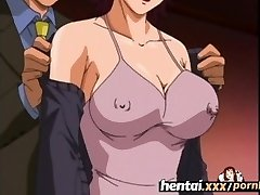 Hentai.xxx - Busty Cougar'S First Three Way