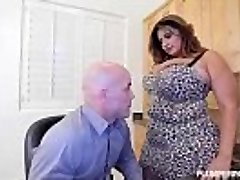 Big-titted Latina MILF Sofia Rose Penetrates Her CoWorker Derrick
