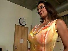 Hottest pornstars Persia Monir and Bonnie Skye in hottest brown-haired, onanism xxx scene