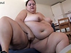 Very Fat nymph loves getting ultra-kinky by herself