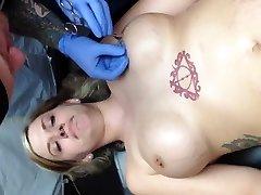 Nipple piercing joy