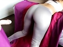 Big Ass Girl Spandex Ass Cum Shot Big Caboose Tease Leggings