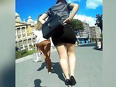 perfect booty in sluty skirt