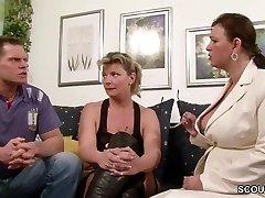 Saksa Big Tit MILF Õpetada Paar On lõbusam Sex