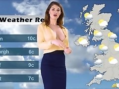 Katie's weather forecast, with no Bra underneath