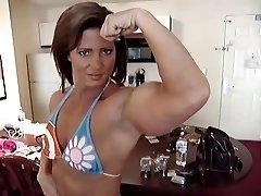 muscle kvinna kvinna fitness
