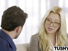 TUSHY First Anal For Blonde Stunner Samantha Rone