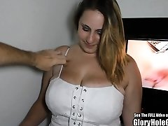 Store Naturlige Bryst Blonde Glory Hole Blowjobs