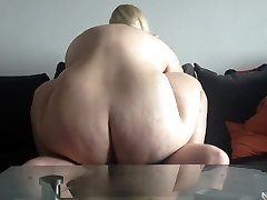 Steamy blonde bbw amateur plumbed on cam. Sexysandy92 i met via Trysts25.COM