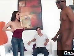 Horny housewife gets her wooly snatch creampied