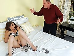 Haley Banks in Innocent Childminders First Time
