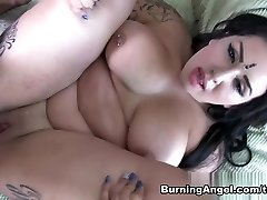 Incredible pornstars in Amazing Plumper, POV porno video