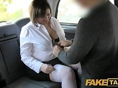 Faux Taxi Back seat buttfuck for curvy lass