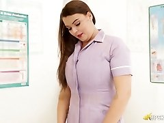 Horn-mad curvy nurse Cherry Blush is prepared to demonstrate you her booty