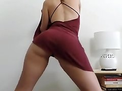 Lady stripping and dancing