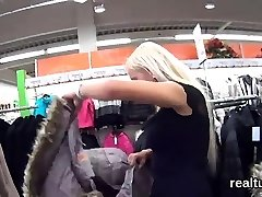 Glamorous czech teen is teased in the supermarket and boned