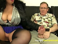 Anatasia Lux - thick thighs in skirt boinks old guy