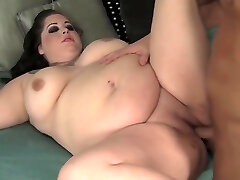Tattooed Brunette Plus-size Has A Suspended Guy Fulfilling Her Need For Cock