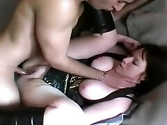 Mature fattie is anal and cunt drilled doggystyle