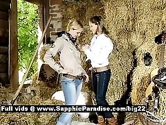 Zoe and Aneta astonished lesbian babes teasing