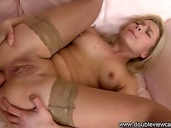 Spectacular blonde has hard dick in her ass