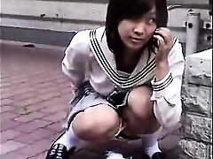 Bottomless Asian nurse sixtynine dt in public