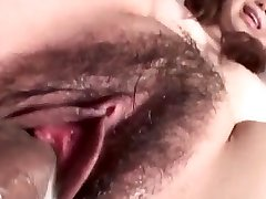 Jun Mise gets a big dick to enlarge her moist bush