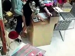 Chinese proprietor have fuckfest during service hours