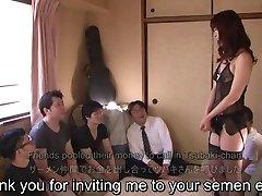 Untertitelt japanischen AV star Tsubaki Katou gokkun party