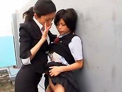 Finest Asian whore Kurumi Katase in Exotic College, Fingering JAV movie