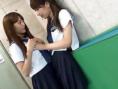 Exotic Japanese breezy Rin Kashiwagi, Maria Hanano, Ai Uehara in Super-naughty Small Tits, Lesbian JAV scene